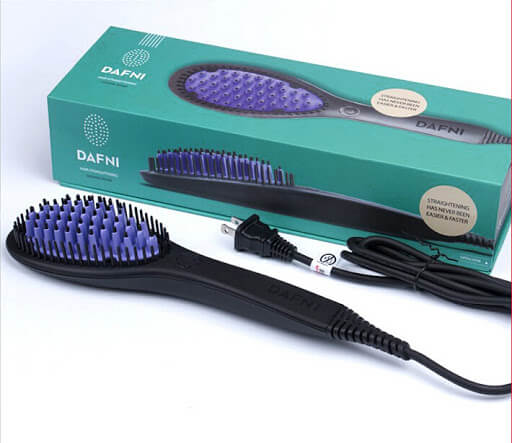 How to use Dafni Hair Straightening Ceramic Brush